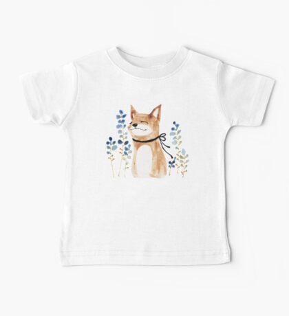 Fox and Flower Baby Tee