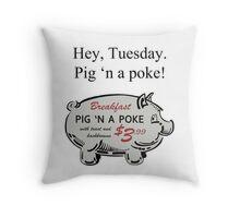 Pig 'n a Poke Throw Pillow
