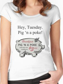 Pig 'n a Poke Women's Fitted Scoop T-Shirt