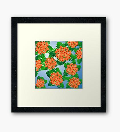 Floral decoration Framed Print