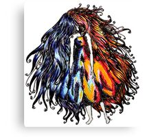 Hot & Cold Faceless girl Canvas Print