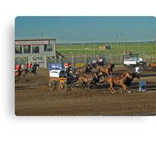 Chuckwagon Races Canvas Print