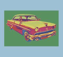 1955 Lincoln Capri Luxury Car Pop Art Kids Tee