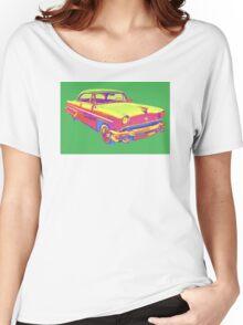 1955 Lincoln Capri Luxury Car Pop Art Women's Relaxed Fit T-Shirt