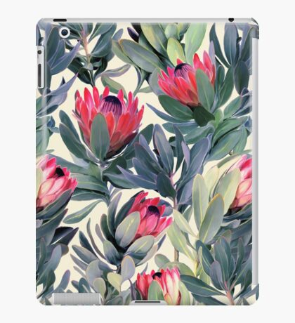 Painted Protea Pattern iPad Case/Skin
