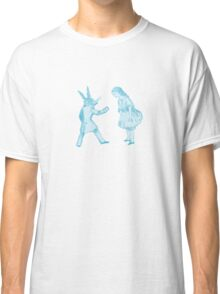 Alice and the White Rabbit Classic T-Shirt