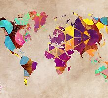 World Map geometric by JBJart