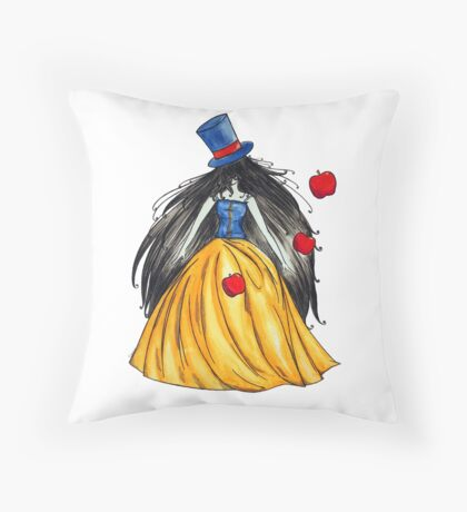 Who is the mad hatter ? Snow White | Blanche Neige  Throw Pillow