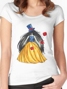 Who is the mad hatter ? Snow White | Blanche Neige  Women's Fitted Scoop T-Shirt