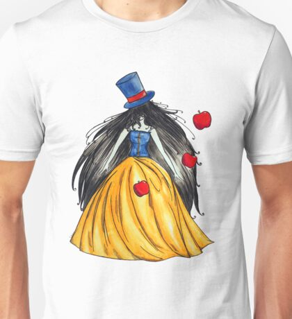Who is the mad hatter ? Snow White   Blanche Neige  Unisex T-Shirt