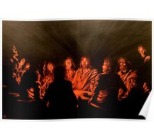 The Last Supper : Harmony in Black and Copper Poster