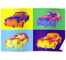1962 Porsche 356 E Pop Art design Poster