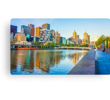 Melbourne Skyline from Southbank Canvas Print
