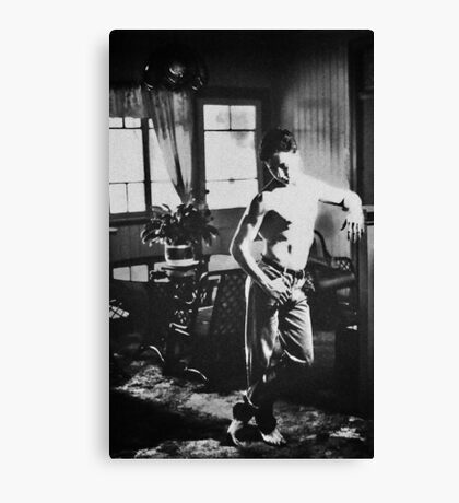 Man around the house Canvas Print