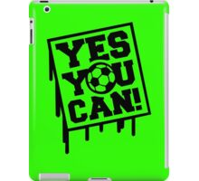 Yes u can geek funny nerd iPad Case/Skin