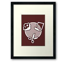 Rock Paper Scissors - white Framed Print