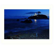 Historic Battery point lighthouse ,Ca. Art Print