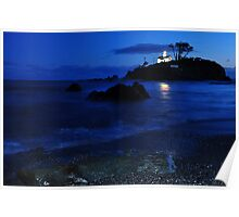 Historic Battery point lighthouse ,Ca. Poster
