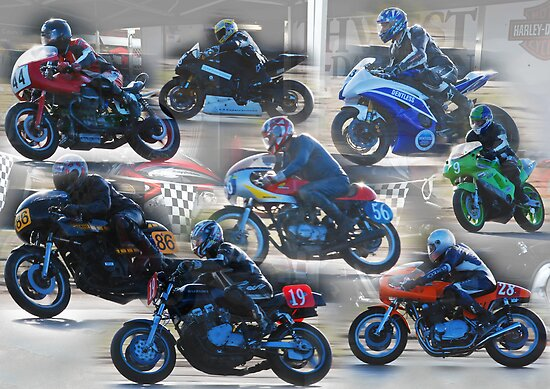 Collection of Motor Bikes by Julie Teague