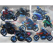 Collection of Motor Bikes Photographic Print
