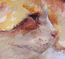 Reds, ( Cat ) from original pastel painting by Madeleine Kelly by Madeleine Kelly