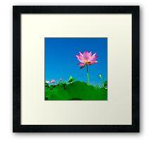 Yoga meditation lotus flower Framed Print