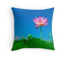 Yoga meditation lotus flower Throw Pillow