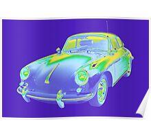1962  Porsche 356 E Pop Image Poster