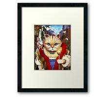 Cat King Framed Print