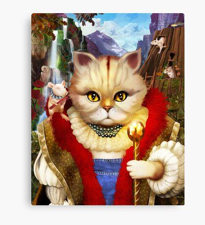 Cat King Canvas Print