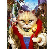 Cat King Photographic Print