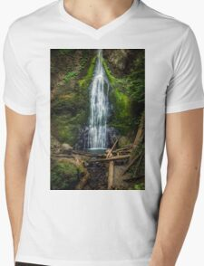 Marymere Falls Olympic Peninsula Washington Mens V-Neck T-Shirt