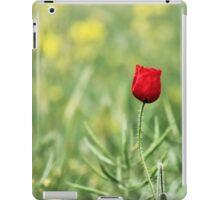 One Red Poppy iPad Case/Skin