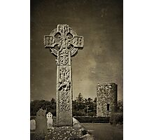 Celtic High Cross - textured Photographic Print