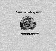 A Single Rose... Womens Fitted T-Shirt