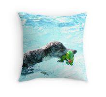 Kermit Needs Help !  Throw Pillow