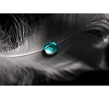 Blue Droplet Photographic Print