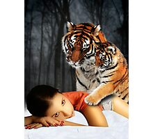 Tiger Affection Photographic Print