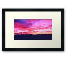 Psychedelic Sunset Framed Print