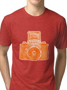 Giant East German Camera - Orange Tri-blend T-Shirt
