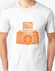 Giant East German Camera - Orange Unisex T-Shirt