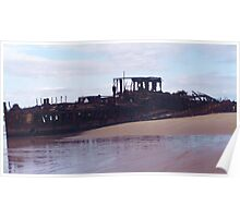 Beached Shipwreck Poster