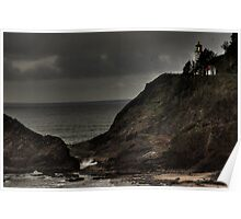 Heceta Head Lighthouse HDR Poster