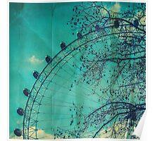 Vintage London Eye Poster