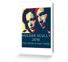 Scully/Mulder 2016 Greeting Card