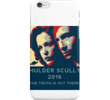 Scully/Mulder 2016 iPhone Case/Skin