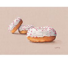 Three Ring Doughnuts, with sprinkles Photographic Print