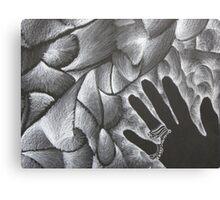Black Hand Shadow Canvas Print
