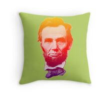 Big psychedelic Abe  Throw Pillow