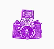 Giant East German Camera - Purple Unisex T-Shirt